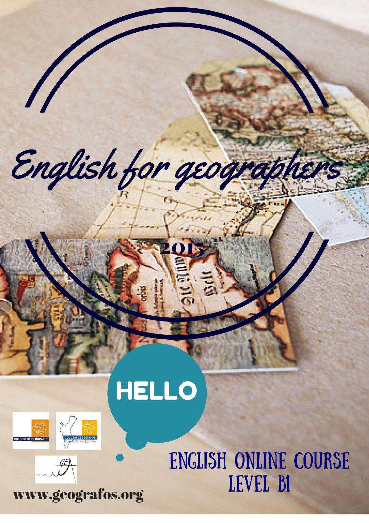 Cartel del curso - Inglés para Geógrafos
